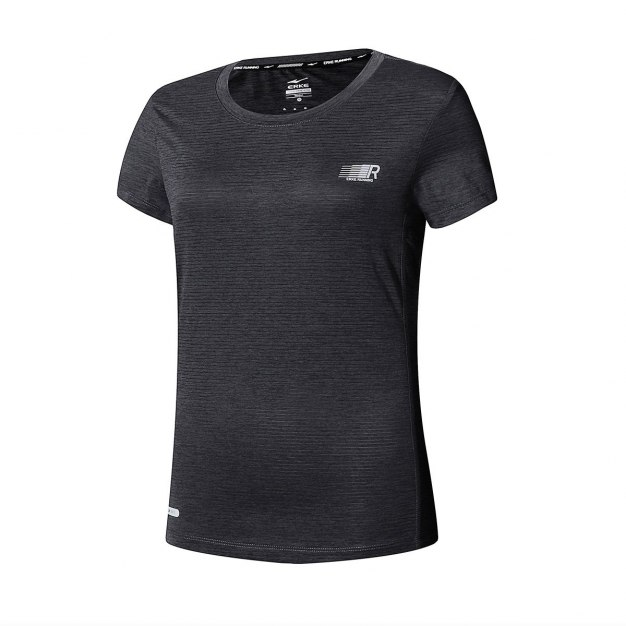 Black Short Sleeve Quick Drying Fitted Women's T-Shirt