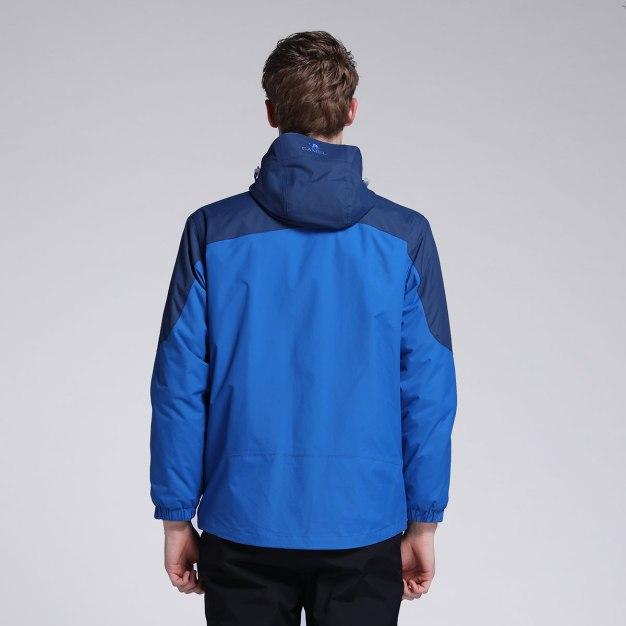 Blue Waterproof Men's Outerwear