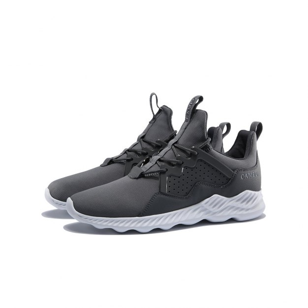 Gray Wear-Resistant Sports Men's Sneakers