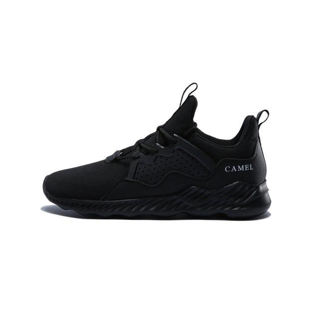 Black Wear-Resistant Sports Men's Sneakers