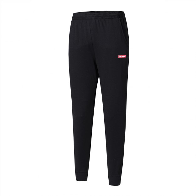 Black Cropped Warm Men's Pants