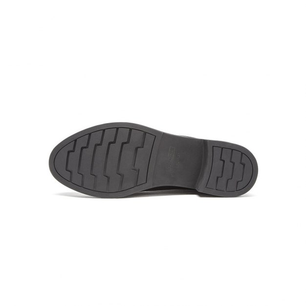 Black Cut Round Head Low Heel Women's Boots