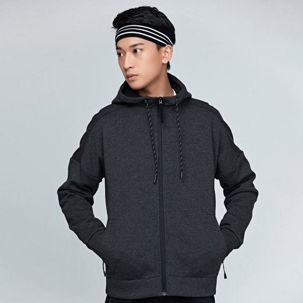 Stand Collar Long Sleeve Fitted Wear-Resistant Men's Outerwear
