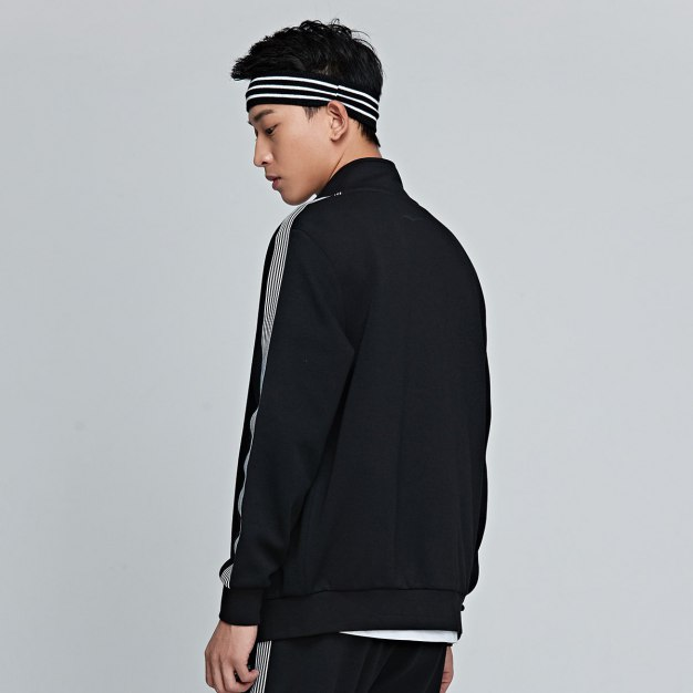 Stand Collar Long Sleeve Fitted Warm Men's Outerwear