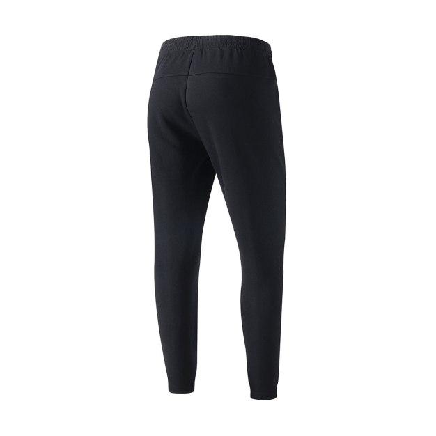 Black Cropped Anti-Pilling Men's Pants