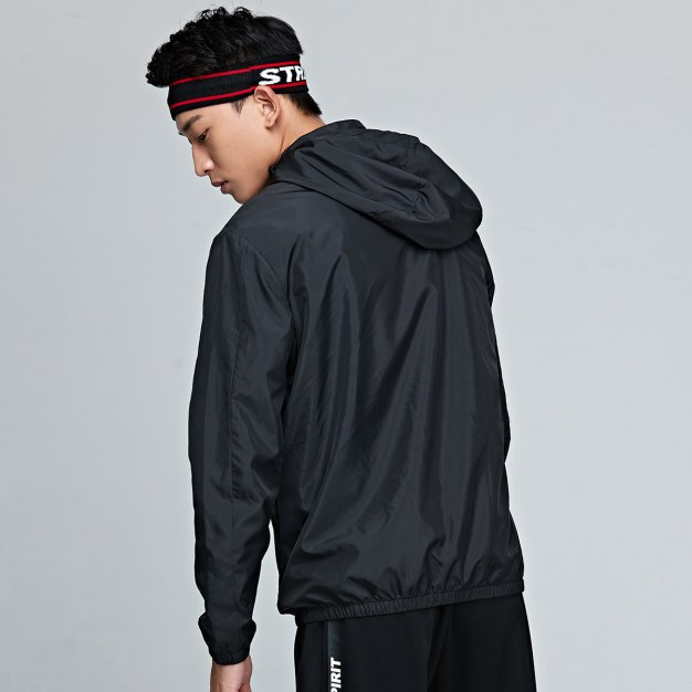 Stand Collar Long Sleeve Fitted Anti-Pilling Men's Jacket