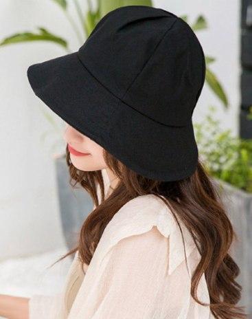 Black Dome Flat Cotton Hat & Cap