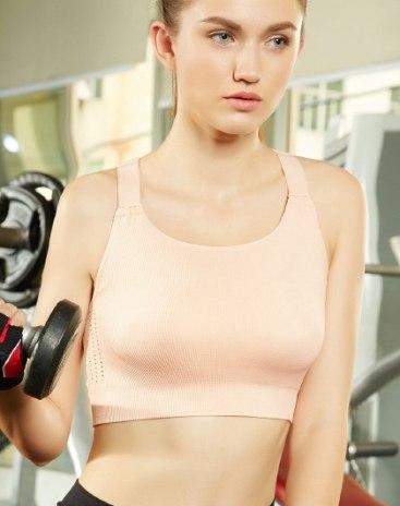 Fixed Shoulder Straps Women's Bra