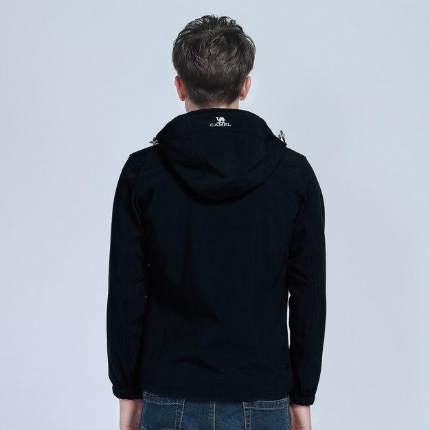 Black Windbreak Men's Outerwear