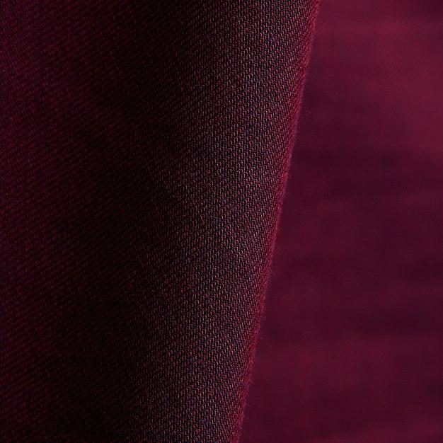 Red Plain Square Neck Long Sleeve Standard Men's Shirt