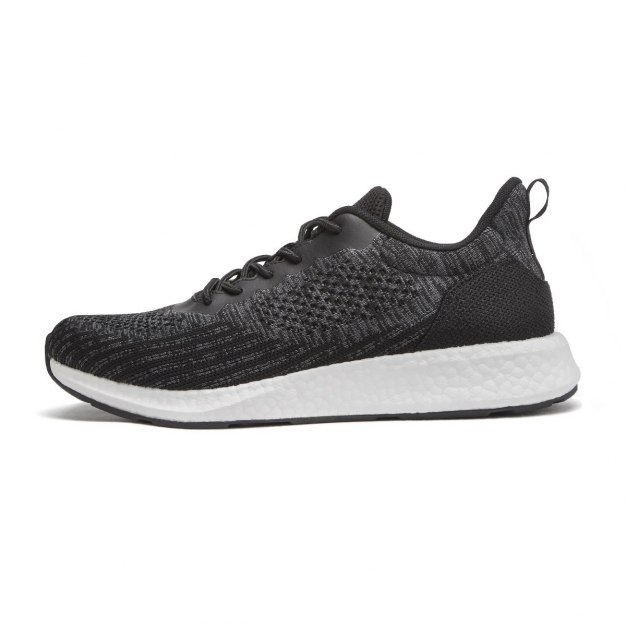 Gray Round Head Men's Sports Shoes
