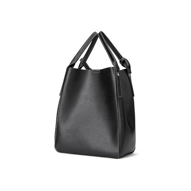 Black Plain Pvc Small Women's Shoulder Bag
