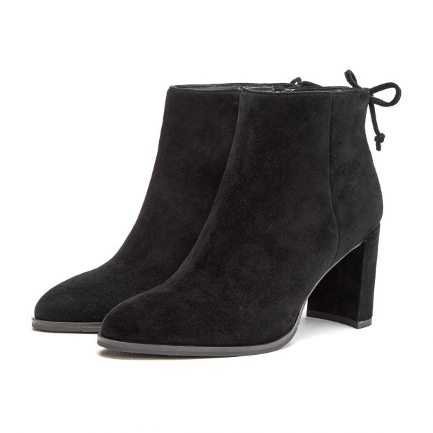 Black Pointed High Heel Women's Boots