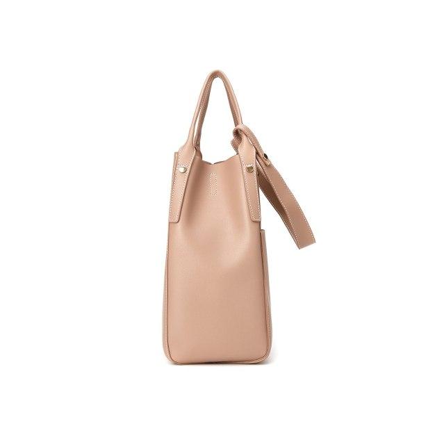 Apricot Plain Pvc Small Women's Shoulder Bag