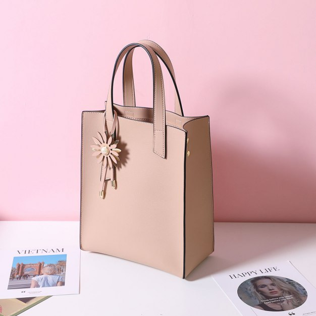 Plain Pvc Bucket Bag Big Women's Tote