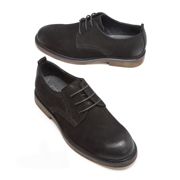 Black Round Head Men's Business Casual Shoes