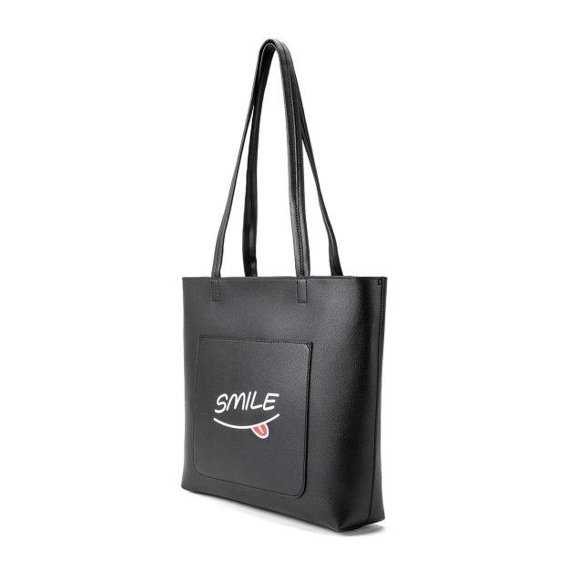 Black Pvc Small Women's Shoulder Bag