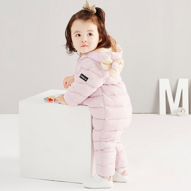 Long Sleeve One-Piece Baby's Down Jacket