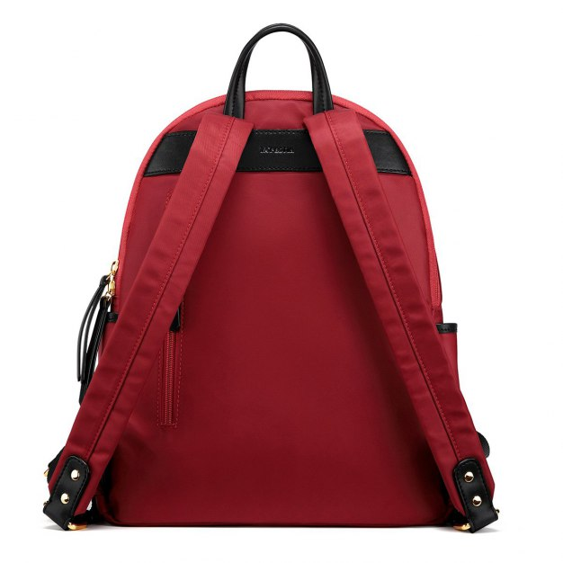 Red Big Plain Women's Backpack