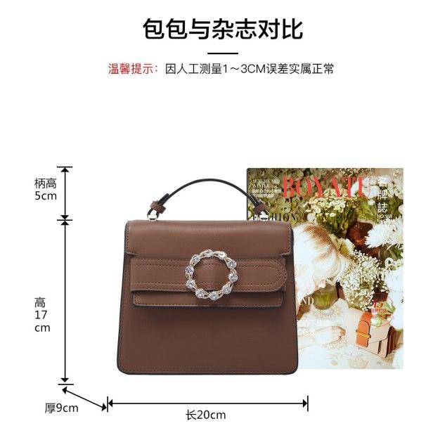 Brown Plain Cowhide Leather Organ Bag Small Women's Tote