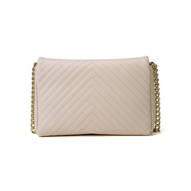 Beige Plain PU Mini Women's Crossbody Bag