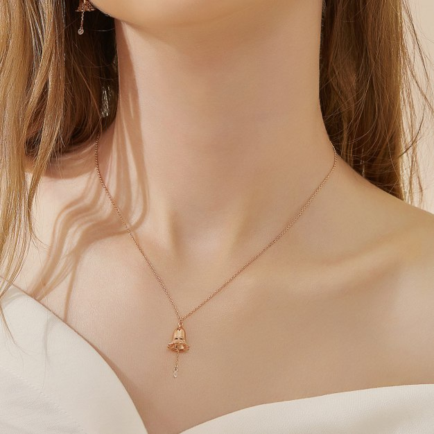 Rose Gold Bell Pendant