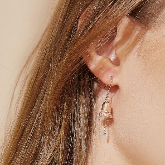 Rose Gold Bell Earrings