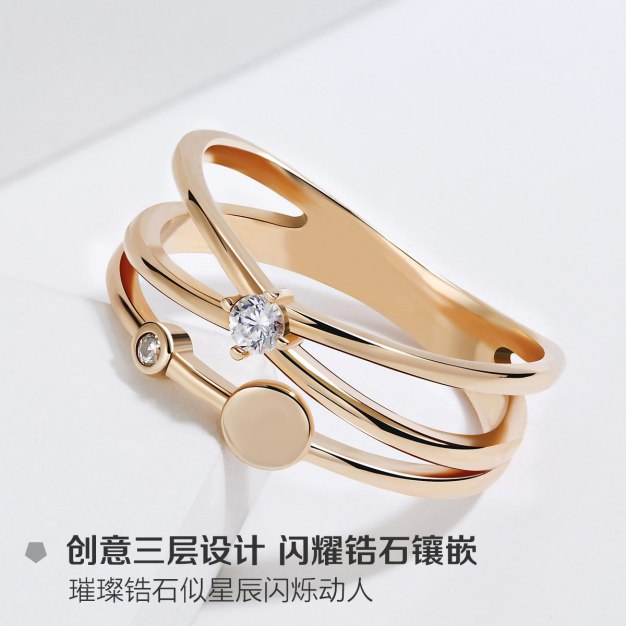 Rose Gold Universe Ring