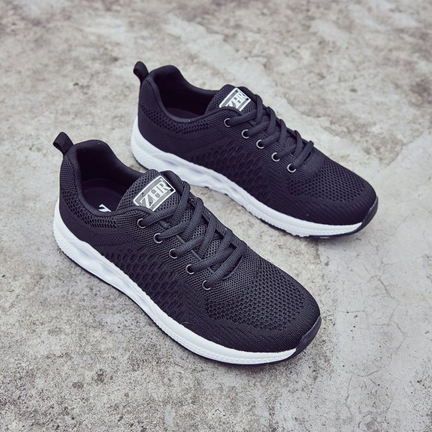 Black Round Head Men's Casual Shoes