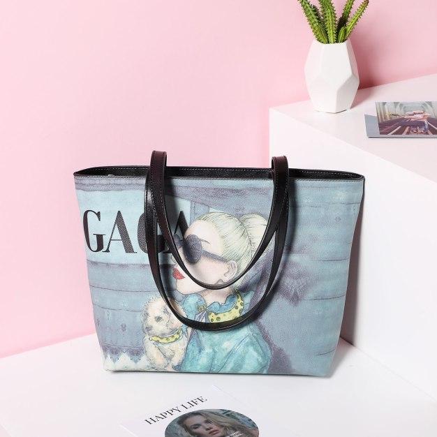 PU Tote Bag Big Women's Shoulder Bag