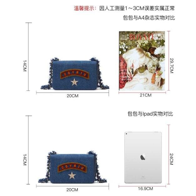 Blue Plain Cowhide Leather Small Women's Crossbody Bag