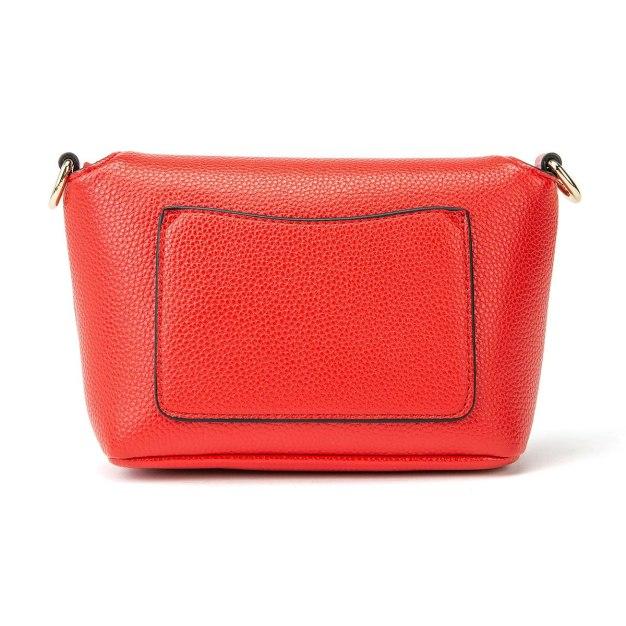 Red Plain PU Mini Women's Crossbody Bag