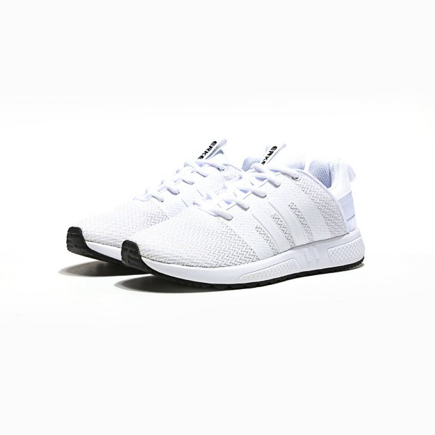 White Anti Skidding Outdoor Men's Sneakers