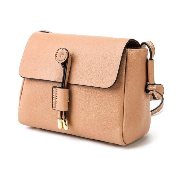 Pink Plain PU Mini Women's Crossbody Bag
