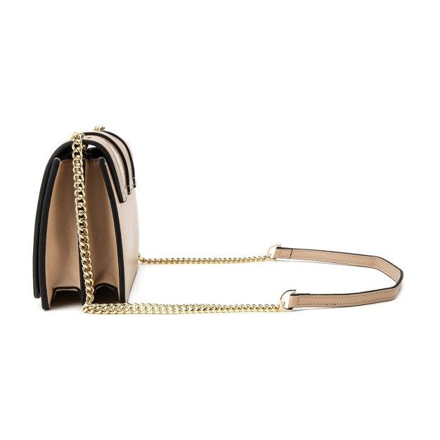 Apricot Plain PU Mini Women's Crossbody Bag