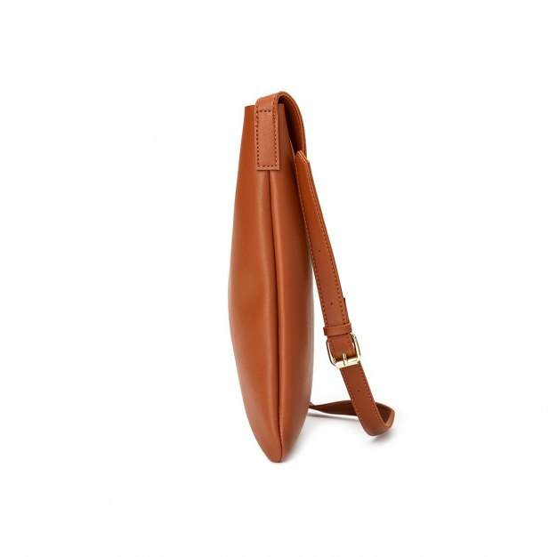 Brown Plain Pvc Small Women's Shoulder Bag