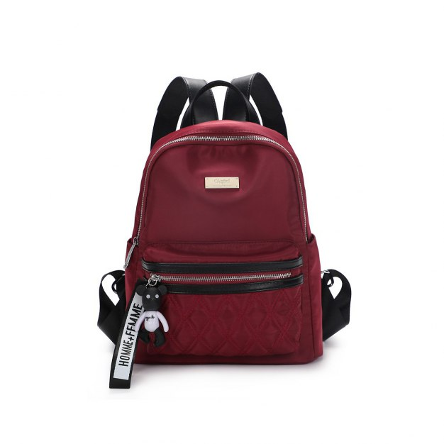 Red Oxford Cloth Big Women's Backpack