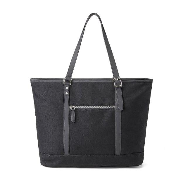Black Plain Medium Men's Shoulder Bag