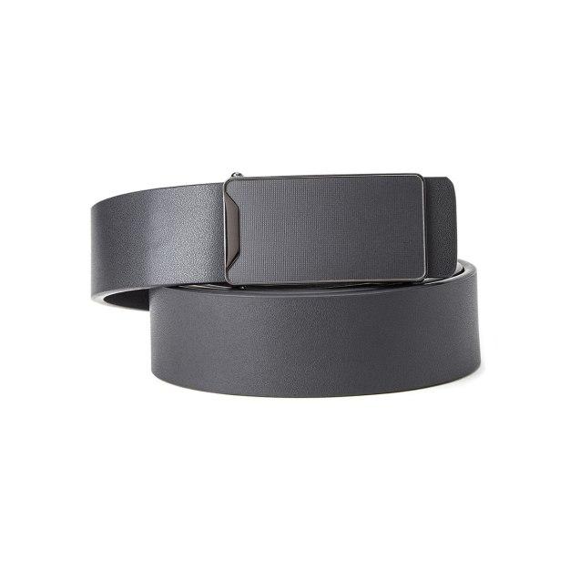 Black Glossy Men's Belt