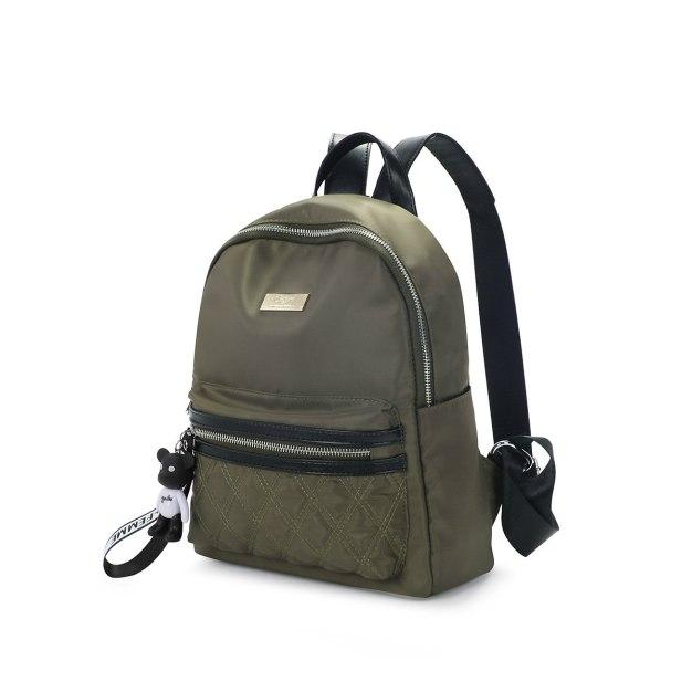 Green Oxford Cloth Big Women's Backpack