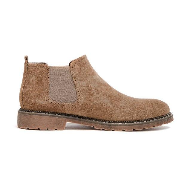 Apricot Round Head Men's Chelsea Boots