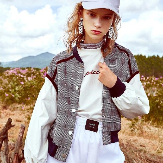 Gray Square Neck Buckle Long Sleeve Standard Women's Outerwear
