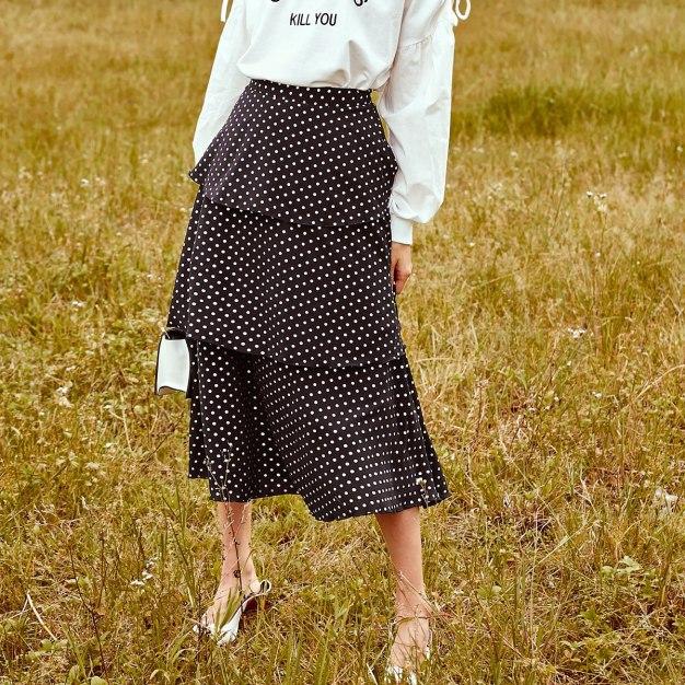 Black High Waist Women's Skirt