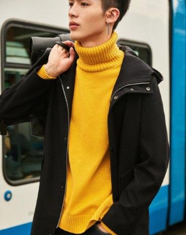 Regular Collar Long Sleeve Standard Men's Outerwear