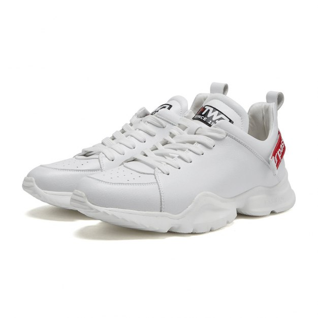 White Round Head Men's Sports Shoes