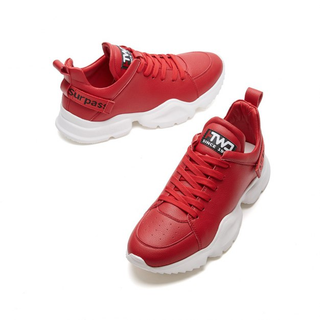 Red Round Head Men's Sports Shoes