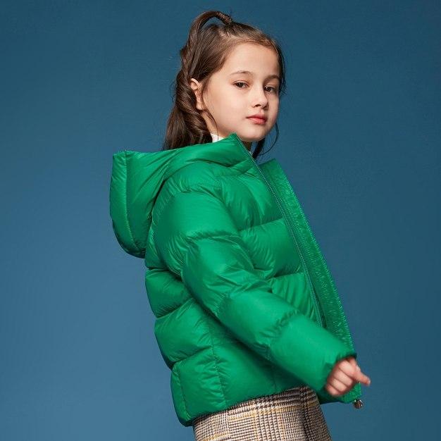 Green Girls' Down Jacket