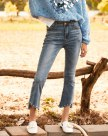 Blue Beaded Women's Jeans