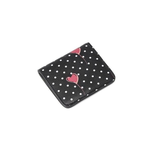Black Cowhide Leather Purse(Short) Small Women's Wallet