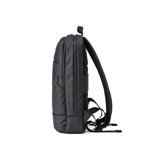 Black Plain Canvas Medium Men's Backpack